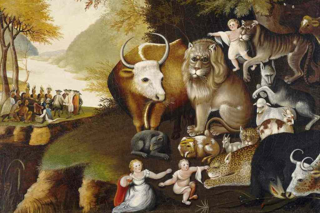 Peaceable Kingdom by Edward Hicks (1834)